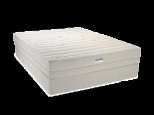 Angle view of natural latex mattress